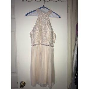 baby pink macy's dress